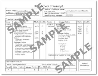 PES Direct - Custom High School transcript Service